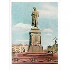 1955. Москва. Памятник Пушкину.