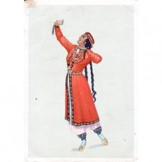 1957. Узбекский танец Лязги.