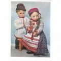 1964. Разговор. Куклы в народных костюмах Воронежской области.